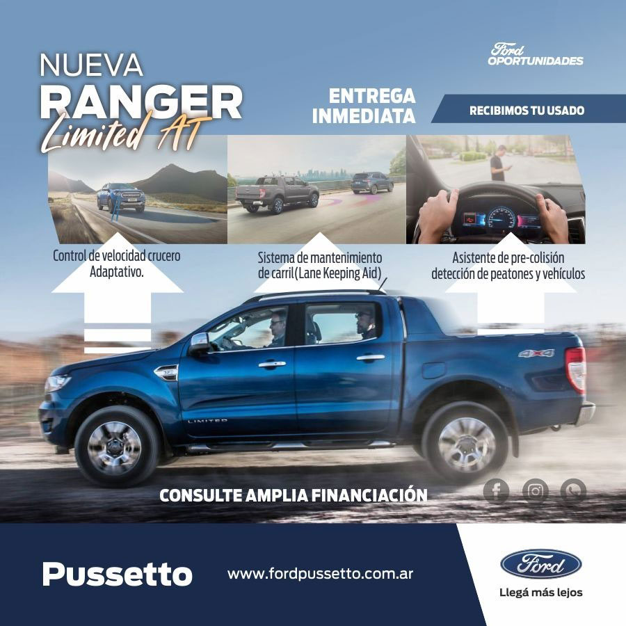 Entrega inmediata Ford Ranger Limited